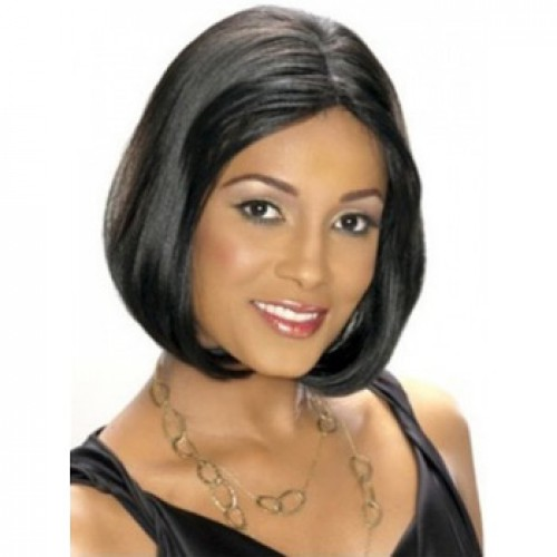 African American Hair Wig Straight Grey/Black