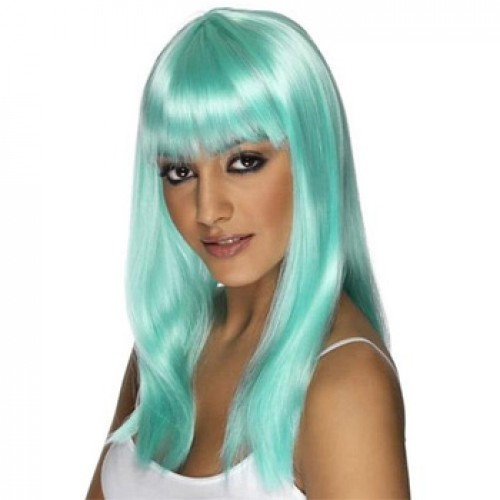 Women's Costume Wig For Party Aqua