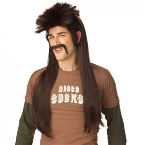 Men's Costume Wigs For Party Dark Brown