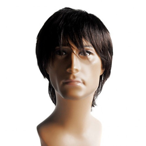 Synthetic Men's Wig Straight Black