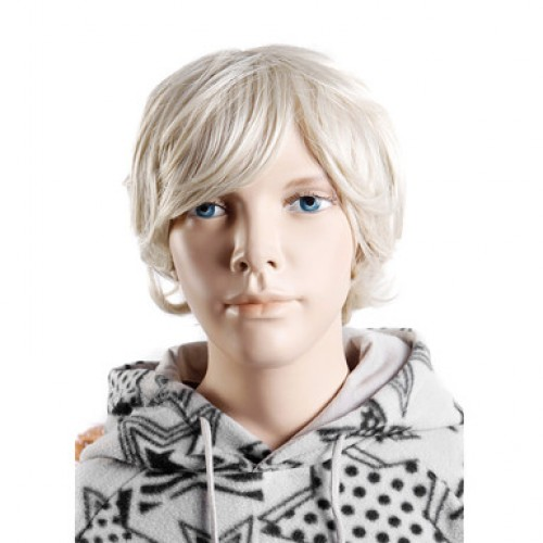 Synthetic Kid's Wig Straight White Blonde