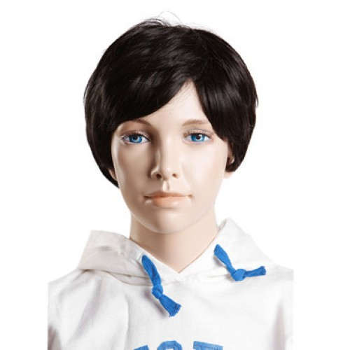 Synthetic Kid's Wig Straight Natural Black