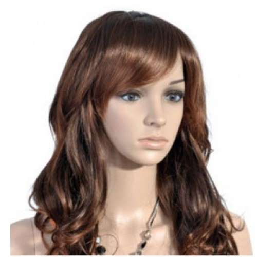 Synthetic Hair Wig Wavy Brown