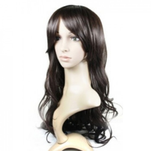 Synthetic Hair Wig Wavy Natural Black