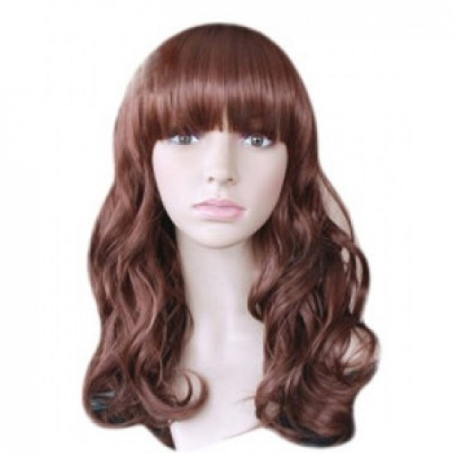 Synthetic Hair Wig Wavy Auburn