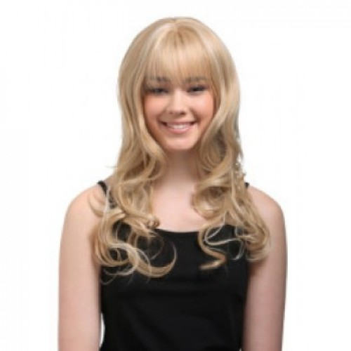 Synthetic Hair Wig Wavy Blonde Highlight