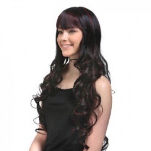 Synthetic Hair Wig Wavy 99J Highlight