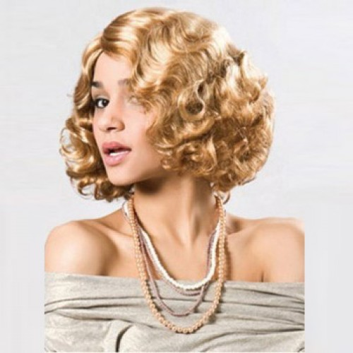 African American Hair Wig Wavy Golden Blonde