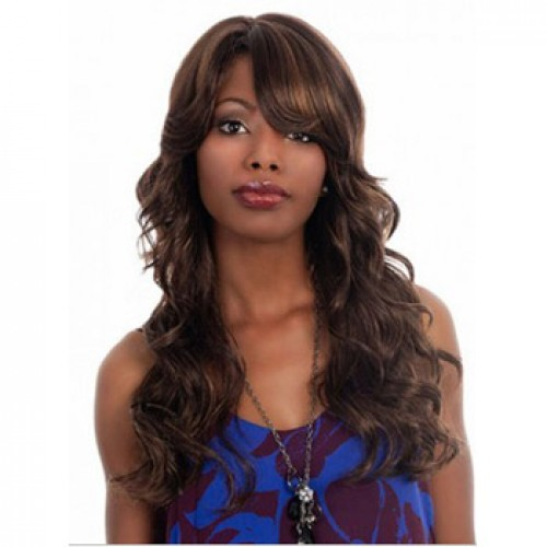 African American Hair Wig Wavy Ash Brown