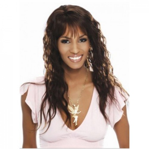 African American Hair Wig Wavy Light Brown