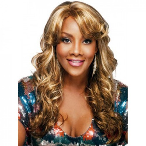 African American Hair Wig Wavy Blonde Highlight