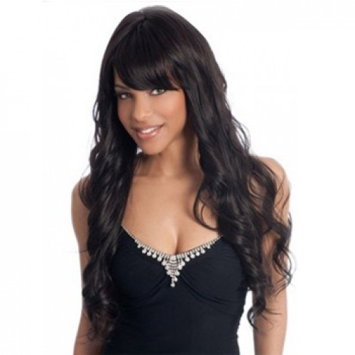 African American Hair Wig Wavy Natural Black
