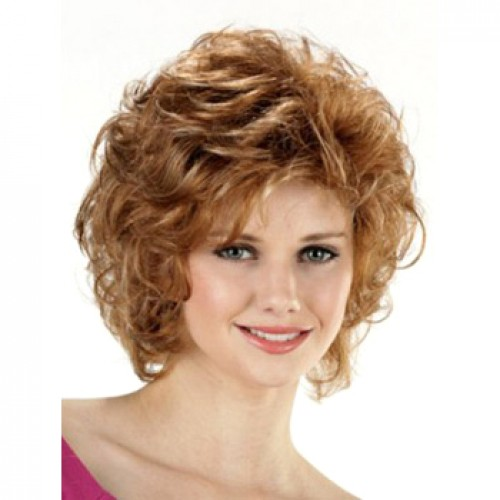 African American Hair Wig Wavy Strawberry Blonde