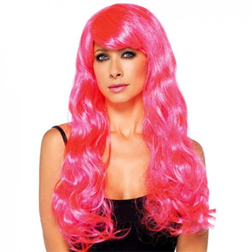 Women's Costume Wig For Party Wavy Pink