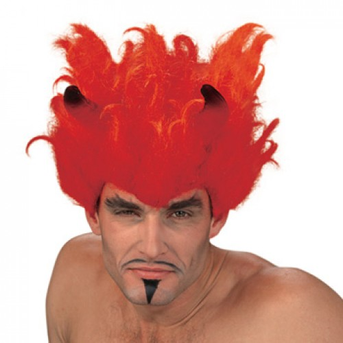 Men's Costume Wigs For Party Red