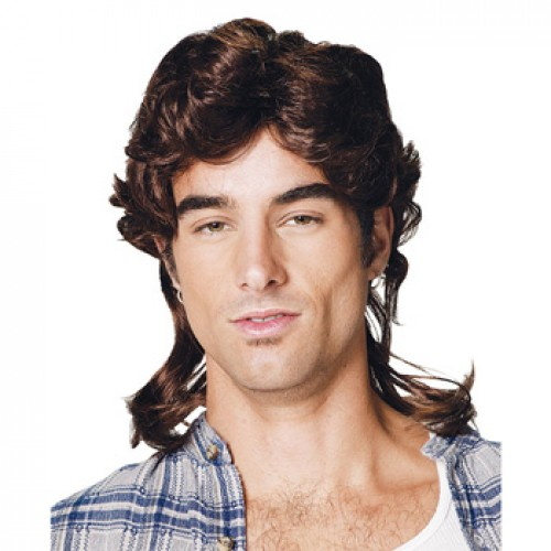 Men's Costume Wigs For Party Dark Auburn