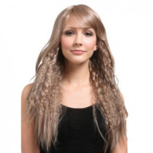 Synthetic Hair Wig Curly Light Ash Brown
