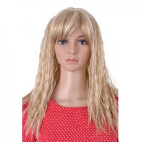 Synthetic Hair Wig Curly Blonde Highlight