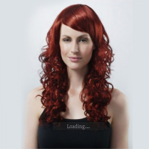 Synthetic Hair Wig Curly Brownish Red