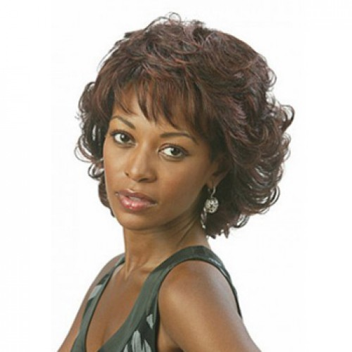 African American Hair Wig Curly Medium Brown