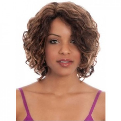 African American Hair Wig Curly Light Brown