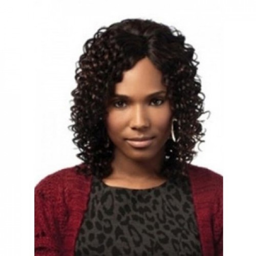 African American Hair Wig Curly Jet Black