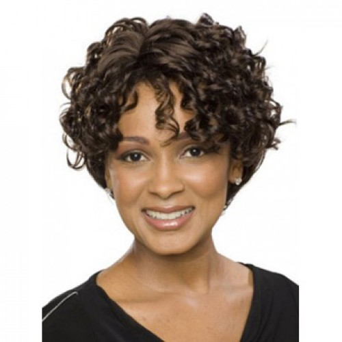 African American Hair Wig Curly Natural Black