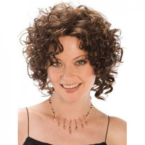 African American Hair Wig Curly Ash Brown