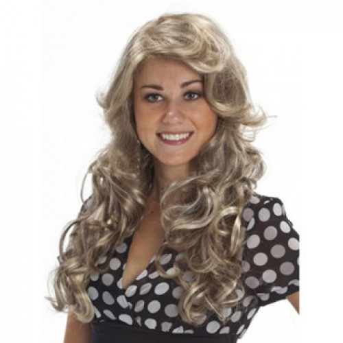 African American Hair Wig Curly Blonde Highlight