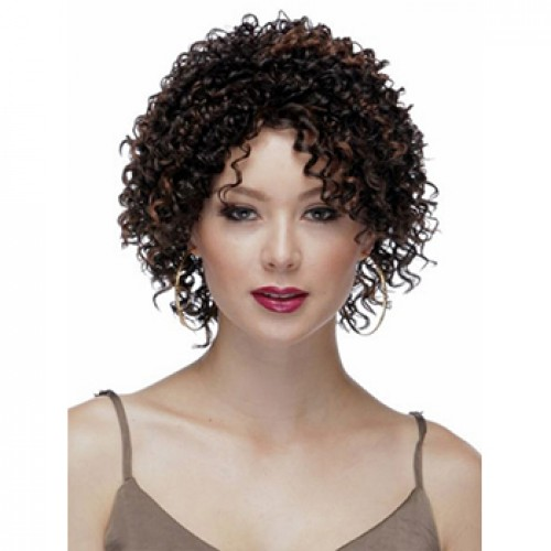 Curly Dark Brown Hair Wig