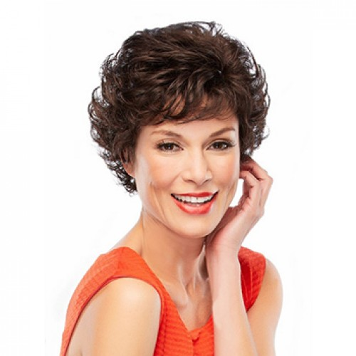 Short wavy Dark brown wig