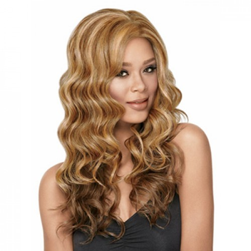 Long wavy Brown Blonde Highlight wig