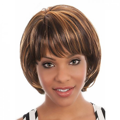 Auburn hair blonde highlights wig