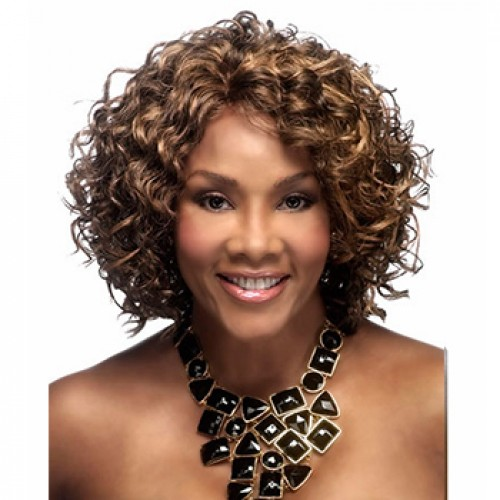 Corta barata Brown Short Curly Wig